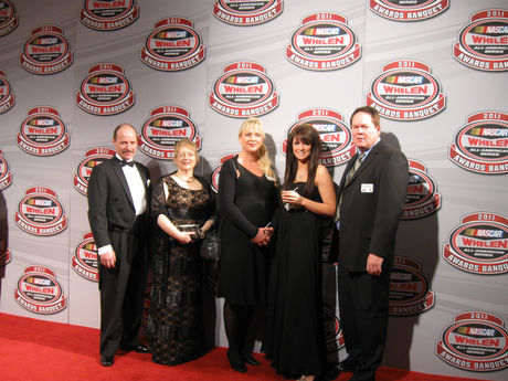 Lyndon Fritz and erica thiering celebrate their nascar achievements in charlotte - dec 9th