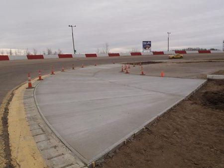 SATURDAY'S CONCRETE ALL FINISHED! MORE TO GO!