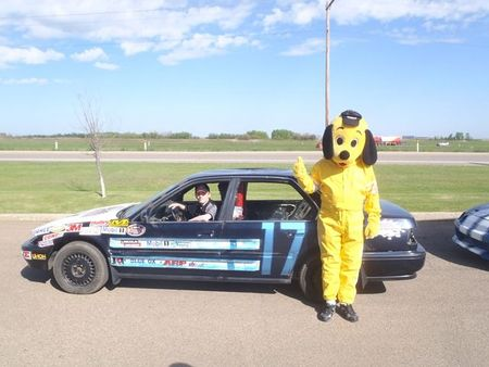 #17 OSMAN AUCTION NASCAR FEATURE STOCK RACER - LAYNE EILANDER WITH RICKY DOGGY!