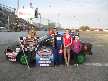 May 12, 2012 - Osman Auction NASCAR Feature Stock Feature Winner - #4 Devon Rendall