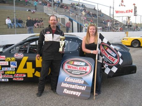 May 12, 2012 - NASCAR Super Stocks Feature Race Winner - #45 Kel Rudy