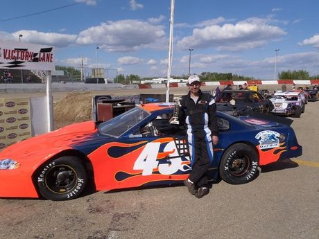 NASCAR LATE MODEL TROPHY DASH WINNER MAY 26, 2012<BR>#43 Lyndon Fritz